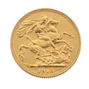 Sale 8855H - Lot 62 - 1913 Gold Sovereign weight approx 7.95g