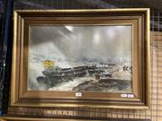 Sale 8936 - Lot 2095 - Elekfy Jeno (1895 - 1968) Port Scene, watercolour. 42.5 x 59 cm signed lower right -