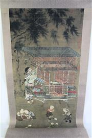 Sale 8957 - Lot 30 - A Chinese Scroll of Children at Play (L 154cm)