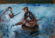 Sale 8990 - Lot 2021 - Artist Unknown (American School) - Claming 27 x 39 cm (frame: 47 x 58 x 2 cm)