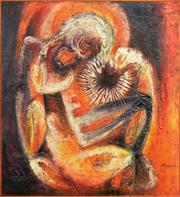Sale 8309A - Lot 53 - Michael Digby Kitching (1940 - ) - Christ Descending from the Cross, 1963 91.5 x 83.5cm