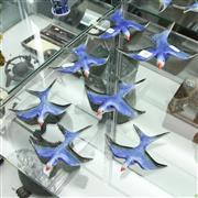 Sale 8304 - Lot 30 - Ceramic Graduated Wall Swallows