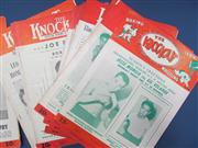 Sale 8419A - Lot 36 - The Knockout - a box of complete Knockouts, New York 1944-1948, in great order!