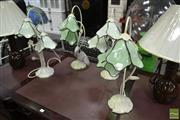 Sale 8489 - Lot 1024 - Collection of Tulip Form Table Lamps