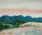 Sale 8947 - Lot 574 - Celia Perceval (1949 - ) - Hills Near, Palatia, Italy 32 x 38 cm (frame: 56 x 62 x 3 cm)