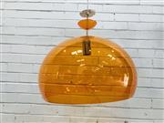 Sale 9092 - Lot 1090 - Orange translucent pendant light for Kartel (d:53cm)
