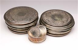 Sale 9107 - Lot 92 - A Good collection of silver plated coasters