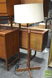Sale 8338 - Lot 1028 - Teak Fluted Standard Lamp