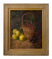 Sale 8422A - Lot 100 - Vincent Clare, British, 19th Century - Garden Still Life