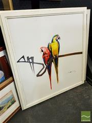 Sale 8491 - Lot 2087 - Robert Hagan (1947 - ) (2 works) - Tropical Birds 68 x 62.5cm; 64 x 60cm