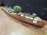 Sale 8637 - Lot 1009 - Organic Leaf Form Tray of Succulents