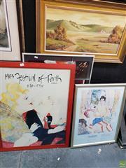Sale 8645 - Lot 2072 - 5 Framed Exhibition Prints
