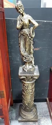 Sale 8717 - Lot 1006 - Composite Lady Statue on Plinth