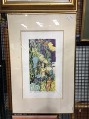 Sale 8752 - Lot 2003 - Jeff Makin - Elizabeths Garden, screenprint, ed. 5/75, 75 x 50cm, signed