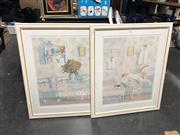 Sale 8811 - Lot 2097 - 2 Works: Nursery I & Nursery II, watercolours, SLR