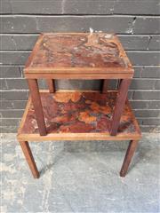 Sale 8962 - Lot 1054 - Pair of Graduated Vintage Side Tables (Largest - H:45 x L:61 x W:38cm)