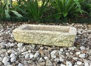 Sale 9015G - Lot 50 - Antique 18th C English Carved Stone Water Trough / Planter General Wear . Size 62cm L x14cm H x 29cm W