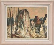 Sale 8316 - Lot 513 - George Feather Lawrence (1901 - 1981) - Warrumbungles 39.5 x 50cm