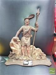 Sale 8455 - Lot 1051 - Antique Cast Iron Scottish Figure Door Stop