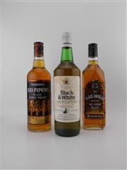 Sale 8498 - Lot 2010 - 3x Old Whiskies - B&W, Black Douglas & 100 Pipers