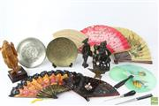 Sale 8603 - Lot 77 - Carved Chinese Figure Together With Cast Iron Example And Other Asian Items