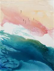 Sale 8652A - Lot 5023 - Cheryl Cusick - Main Beach 120 x 90cm