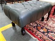 Sale 8676 - Lot 1121 - Leather Upholstered Ottoman with Buttoned Top