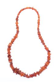 Sale 8706 - Lot 76 - Chinese Genuine Amber Bead Necklace, With Graduating Pieces