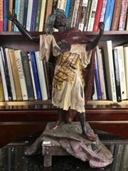 Sale 8730B - Lot 92 - Metal Figure of a Moorish Gent H: 53cm