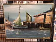 Sale 8779 - Lot 2049 - Artist Unknown - Marine, Oil on Board