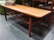 Sale 8908 - Lot 1022 - Vintage Teak Coffee table with Rolled Lip