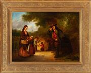 Sale 8908H - Lot 57 - JAN EVERT MOREL (1835 - 1905) Dutch - The Travelling Entertainer 37.0 x 50.0