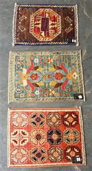 Sale 8889 - Lot 1096 - Three Persian Door Mats (Approx. 60 x 45cm)
