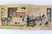 Sale 8902C - Lot 657 - Chinese Erotic scroll (L272cm)