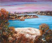 Sale 9047A - Lot 5068 - Thomas Tibor Lonyai (1938 - 1998) - Morning at Balls Head Waverton, Sydney Harbour 49.5 x 59.5cm (frame: 68 x 77 x 4cm)