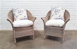 Sale 9129 - Lot 1047 - Pair of cane carvers (h:91 w:71 d:60cm)