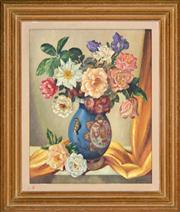 Sale 8344 - Lot 567 - Adrian Feint (1894 - 1971) - Untitled, 1959 (Still Life - Flowers) 50 x 40cm