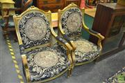 Sale 8386 - Lot 1040 - Gilded 3 Piece French Style Settee