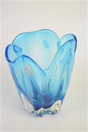 Sale 8396 - Lot 14 - Blue Art Glass Vase