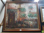 Sale 8573 - Lot 2025 - Artist Unknown - Paris Street Scene 67 x 65.5 (frame)