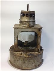 Sale 8600A - Lot 68 - Railway lamp, H 28cm.