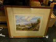 Sale 8631 - Lot 2086 - Charles Decimus Barraud (1822 - 1897) - Wairarapa Lake 50 x 60cm (frame)