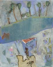 Sale 8722 - Lot 547 - Robert Juniper (1929 - 2012) - Palm House on the Helena, 2008 40 x 50cm