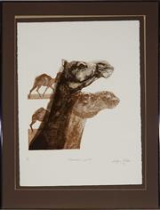 Sale 8932 - Lot 2006 - Bettina McMahon - Alexandria Quartet, 1979 aquatint ed.3/20, 50x45cm, signed -
