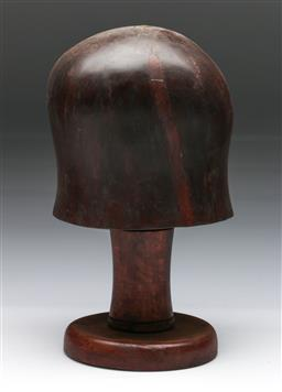Sale 9144 - Lot 27 - Timber hat block (h28cm)