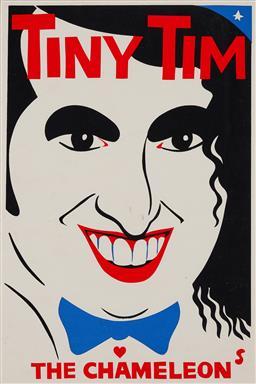 Sale 9157S - Lot 5012 - MARTIN SHARP (1942 - 2013) Tiny Tim: The Chameleon screenprint (unframed) 76 x 50.4 cm signed in print