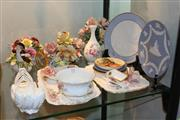 Sale 8306 - Lot 73 - Coalport Floral Trough with Other Ceramics incl Wedgwood Jasper Ware
