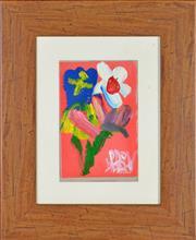 Sale 8349 - Lot 528 - Kevin Charles (Pro) Hart (1928 - 2006) - Still Life - Flower 13 x 9cm