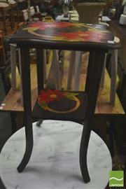 Sale 8406 - Lot 1049 - Arts & Crafts Side Table w Warratah Design