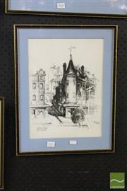 Sale 8468 - Lot 2057 - Unk White (1900 - 1986) - Globe Street, The Rocks 35.5 x 26.5cm